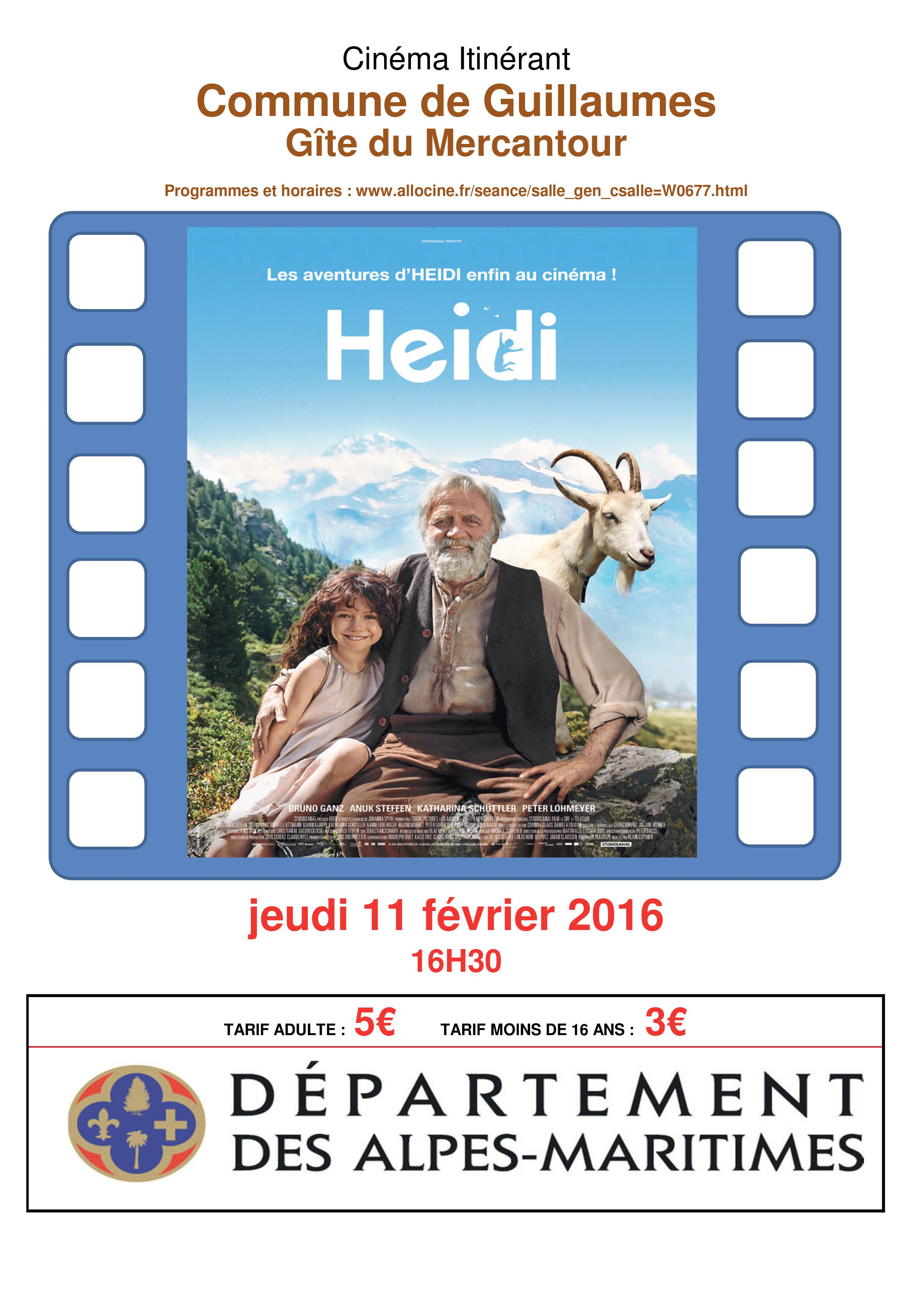 "Projection de ""Heidi"""